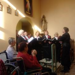 Zakład Pielęgnacyjno Opiekuńczy w Żołyni - Wspólny śpiew z Chórem Trzeciego Wieku z Łańcuta