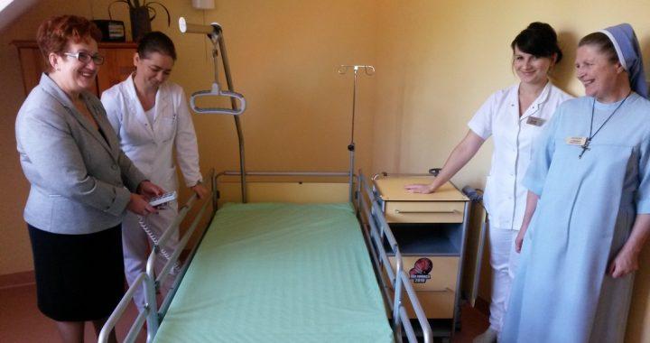 Zakład pielęgnacyjno-opiekuńczy w Żołyni, sprzęt od WOŚP